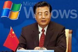 presidente cina hu-jintao microsoft