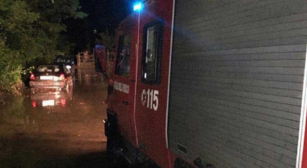 bomba d'acqua allagata Cortina d'Ampezzo