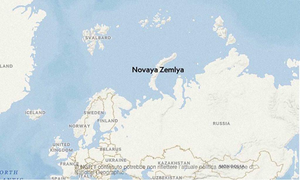 Novaya Zemlya mappa