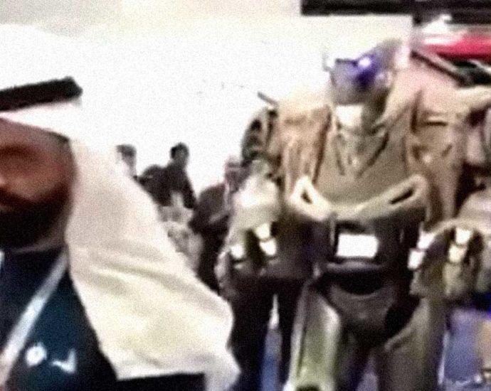 sceicco re robot guardia del corpo video