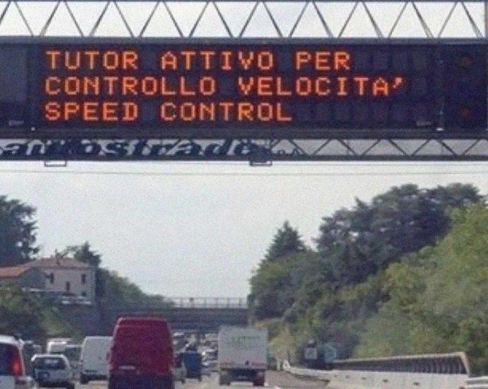controllo velocità Tutor autostrada
