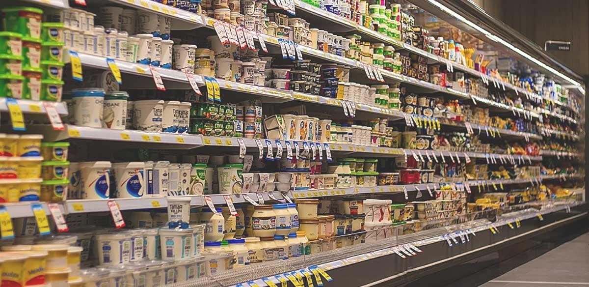 alimentari scaffale supermercato