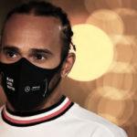 Lewis Hamilton mascherina