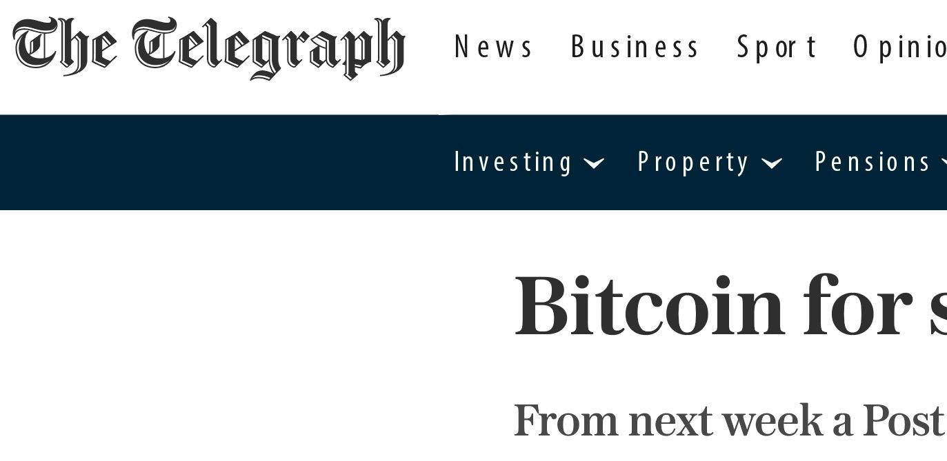 The Telegraph Bitcoin